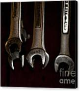 Wrenches Hanging On The Shop Wall Canvas Print by Wilma  Birdwell