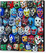Wrestling Masks Of Lucha Libre Canvas Print