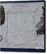 Wrigley Field - Plat Of Survey Canvas Print by David Bearden