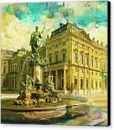 Wurzburg Residence With The Court Gardens And Residence Square Canvas Print by Catf