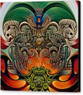 Xiuhcoatl The Fire Serpent Canvas Print by Ricardo Chavez-Mendez