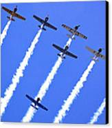 Yak 52 Formation Canvas Print