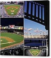 Yankee Stadium Collage Canvas Print by Allen Beatty