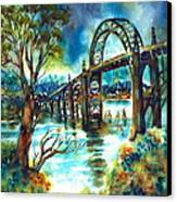 Yaquina Bay Bridge Canvas Print by Ann  Nicholson