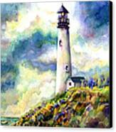 yaquina Head Lighthouse Canvas Print by Ann  Nicholson