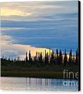 Yarger Lake Sunset Canvas Print by Chris Heitstuman