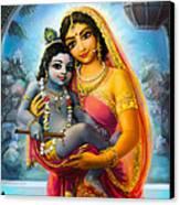 Yashoda And  Krishna Canvas Print