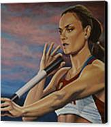 Yelena Isinbayeva   Canvas Print by Paul Meijering