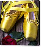 Yellow Ballet Shoes Canvas Print by Garry Gay