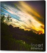 Yellow Blue And Green Canvas Print