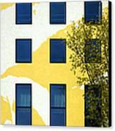 Yellow Facade In Berlin Canvas Print