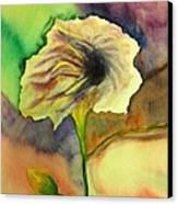 Yellow Flower Canvas Print by Anais DelaVega