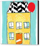 Yellow Flower House Canvas Print