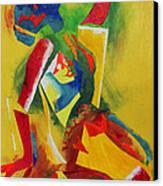 Yellow Nude Canvas Print