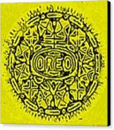 Yellow Oreo Canvas Print