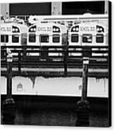 Yellow School Buses In A Car Park New York City Canvas Print by Joe Fox