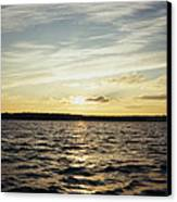 Yellow Sunrise In Manhassett Bay Canvas Print