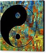 Yin Yang Abstract Canvas Print by Dan Sproul