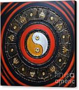 Yin Yang Energy Canvas Print by Elena  Constantinescu