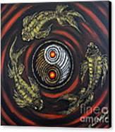 Yin Yang - Koi Fish Canvas Print