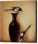 Yin Yang - Magpies  Canvas Print by Lori  McNee