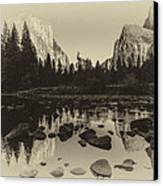Yosemite National Park Valley View Antique Print   Canvas Print by Scott McGuire
