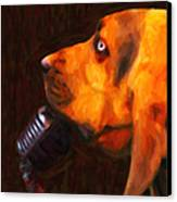 You Ain't Nothing But A Hound Dog - Dark - Painterly Canvas Print by Wingsdomain Art and Photography