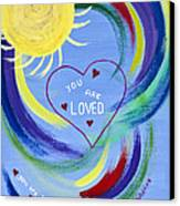 You Are Loved Canvas Print by Judy M Watts-Rohanna