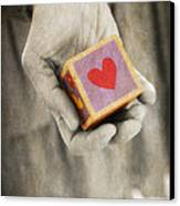 You Hold My Heart In Your Hand Canvas Print