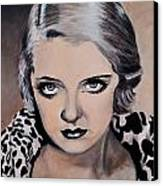 Young Bette Davis Canvas Print by Shirl Theis