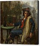 Young Italian Street Musician Canvas Print by Thomas Couture