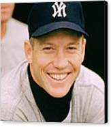 Mickey Mantle Smile Canvas Print by Retro Images Archive
