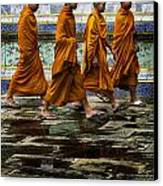 Young Monks Canvas Print by Rob Tullis