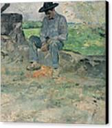 Young Routy At Celeyran Canvas Print by Henri de Toulouse-Lautrec