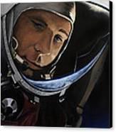 Yuri Alekseyevich Gagarin Canvas Print by Simon Kregar