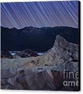 Zabriskie Point Star Trails Canvas Print by Jane Rix