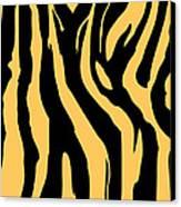 Zebra Print 005 Canvas Print by Kenneth Feliciano
