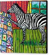 Zebra Quilting Canvas Print by Jay  Schmetz