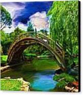 Zen Bridge Canvas Print by Cary Shapiro