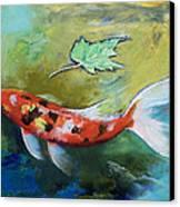 Zen Butterfly Koi Canvas Print by Michael Creese