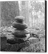Zen Rocks Canvas Print by Judy  Waller