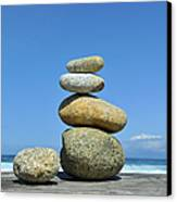 Zen Stones I Canvas Print by Marianne Campolongo
