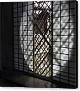 Zen Temple Window - Kyoto Canvas Print by Daniel Hagerman
