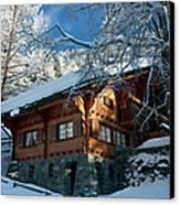 Zermatt Chalet Canvas Print by Brian Jannsen