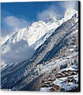 Zermatt Mountains Canvas Print