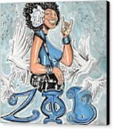 Zeta Phi Beta Sorority Inc Canvas Print by Tu-Kwon Thomas