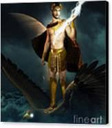 Zeus King Of The Gods Canvas Print by Pixl Vixl