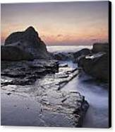 Zig-zag Rock Canvas Print by Steve Caldwell