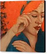 Zinnia Canvas Print by Deborah Allison
