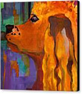 Zippy Dog Art Canvas Print by Blenda Studio